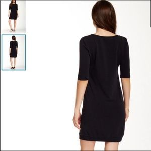 Splendid Dresses - Splendid Black Sweatshirt Mini Dress Crew Neck
